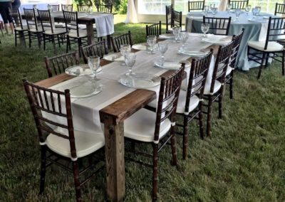 Farm Tables and Chivari Chairs